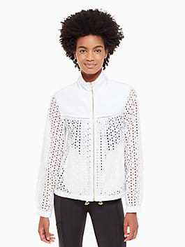 eyelet anorak, fresh white, medium