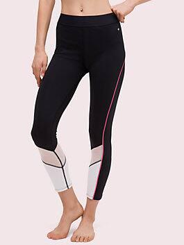 mesh inset legging, black, medium