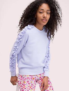 ruffle pullover, frozen lilac, medium