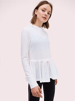 texture mesh hoodie, fresh white, medium