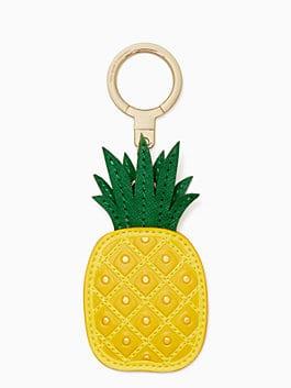 leather pineapple keychain, multi, medium