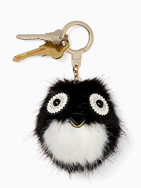 Penguin pouf keychain   Kate Spade New York