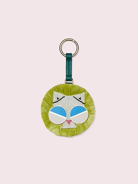 spademals raffia smitten kitten dangle keychain by kate spade new york
