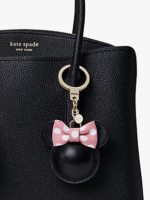 kate spade new york x minnie mouse leather bag charm by kate spade new york hover view