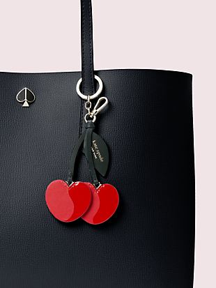 cherry bag charm by kate spade new york hover view
