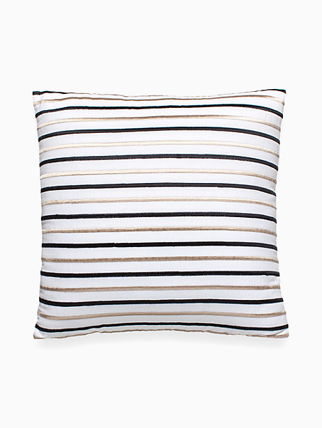 Embroidered Stripe Decorative Pillow by kate spade new york