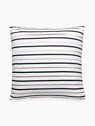 Embroidered Stripe Decorative Pillow by kate spade new york non-hover view