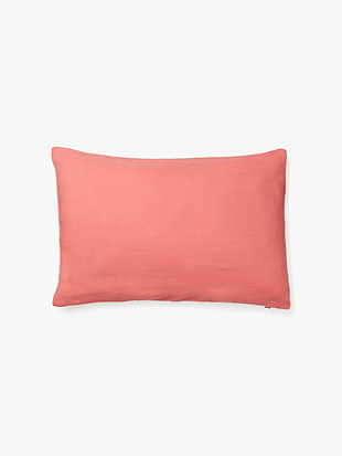 scallop row reversible velvet pillow by kate spade new york hover view