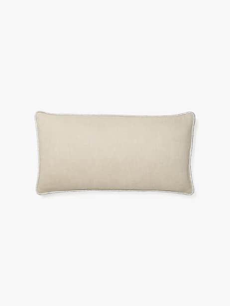 metallic linen pillow by kate spade new york
