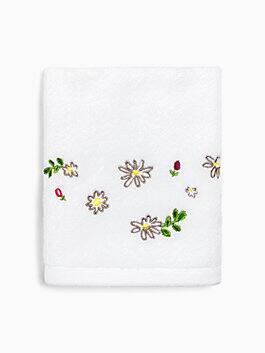 Dahlia Hand Towel, white, medium