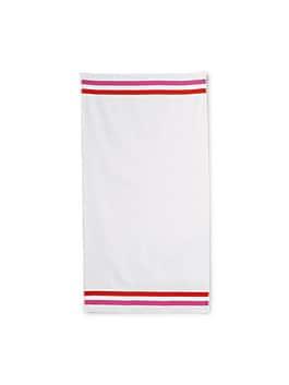 candy stripe bath towel, white, medium