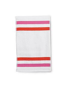 candy stripe finger towel, white, medium