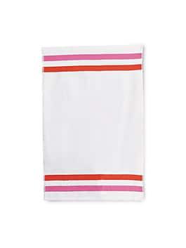 candy stripe handtowel, white, medium