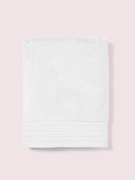 scallop pleat bath towel, white, large by kate spade new york