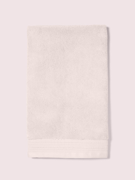 scallop pleat hand towel, cashew butter, large by kate spade new york