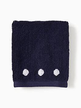 charlotte street finger tip towel, navy/white, medium