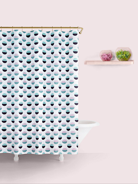 half dot shower curtain by kate spade new york