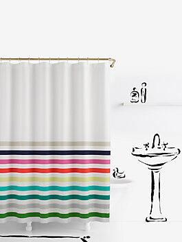 candy stripe shower curtain, multi, medium
