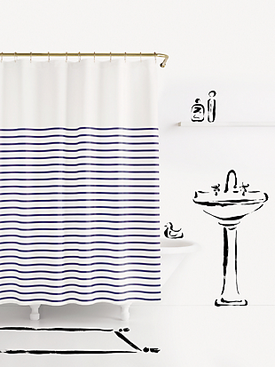 charlotte street shower curtain by kate spade new york hover view