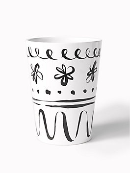 daisy place wastebasket, daisy, medium