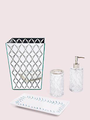 fern trellis wastebasket by kate spade new york hover view