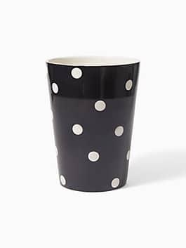 deco dot wastebasket, black/white, medium
