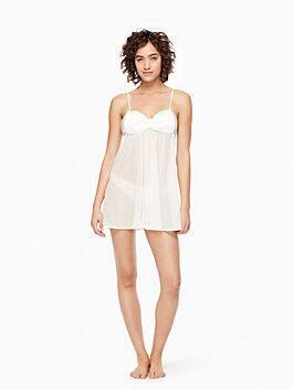 2-piece dot chemise, off-white, medium