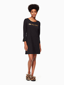 "sleepshirt, black ""pop, fizz, clink"", medium"