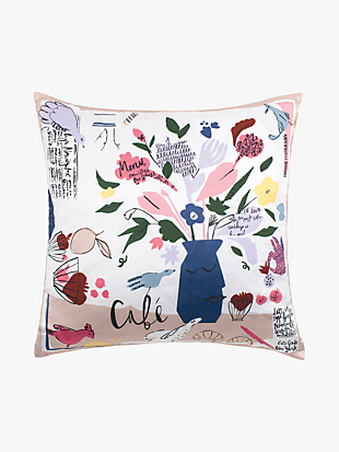 scribble flora café scene decorative pillow by kate spade new york non-hover view