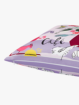 scribble flora café scene decorative pillow by kate spade new york hover view