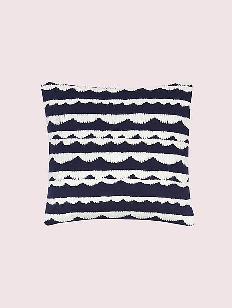 dusk stripe scallop row pillow by kate spade new york