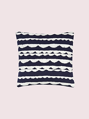dusk stripe scallop row pillow by kate spade new york non-hover view