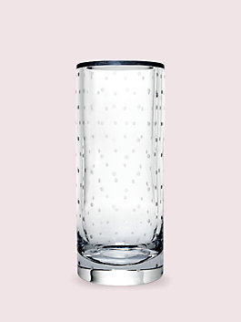 "larabee dot 10"" cylinder vase, clear, medium"