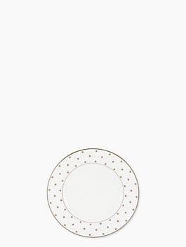larabee road platinum accent plate, ivory, medium