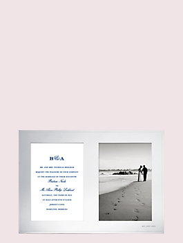 darling point double invitation frame, silver, medium