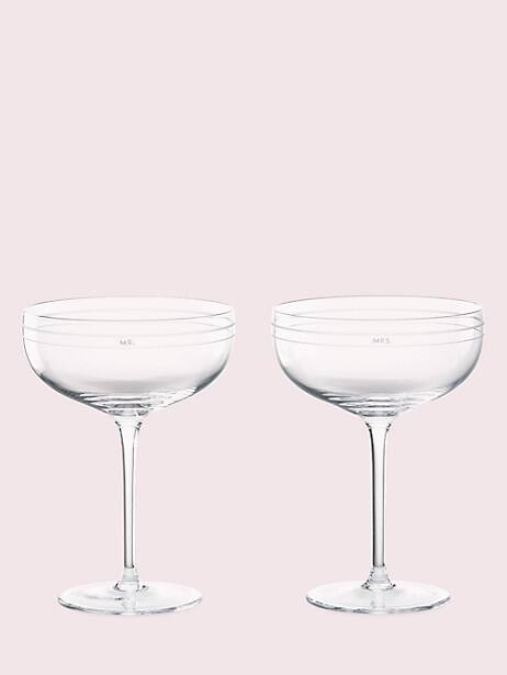 darling point crystal champagne glasses by kate spade new york