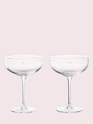 darling point crystal champagne glasses by kate spade new york non-hover view