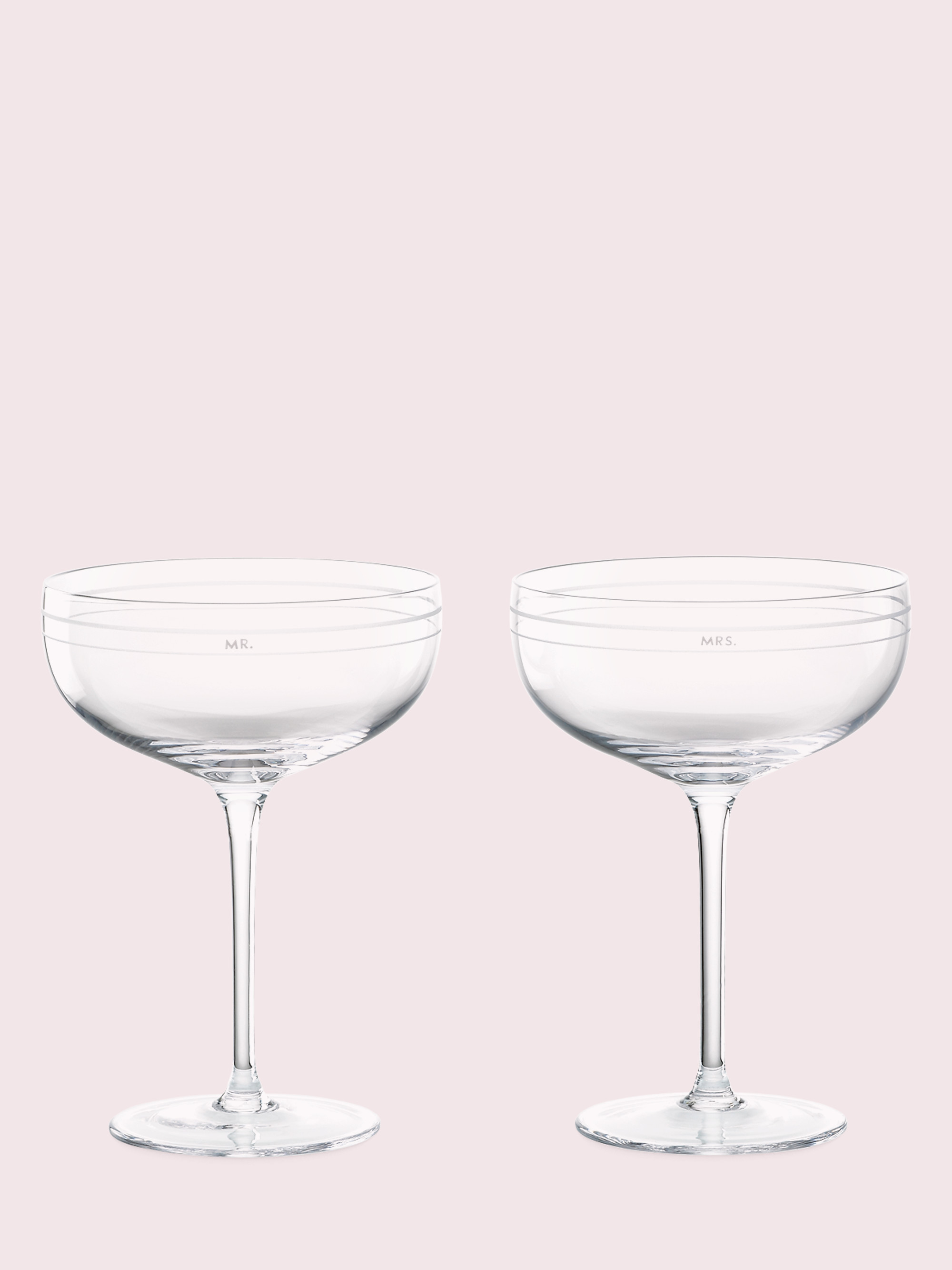 darling point crystal champagne glasses