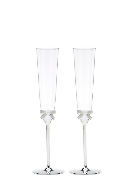 grace avenue toasting flute pair by kate spade new york
