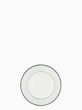 parker place accent plate, blue/cream, medium