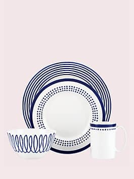 charlotte street east four-piece place setting, navy, medium