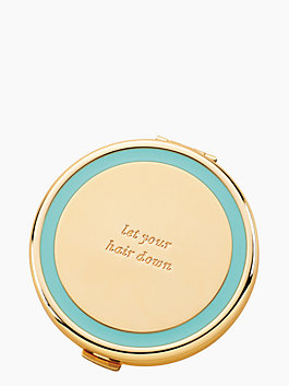 holly drive let your hair down compact, turquoise, medium