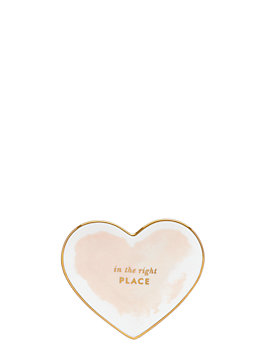 posy court small heart dish, blush, medium