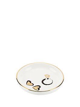 daisy place ring dish, white, medium