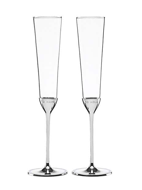 take the cake toasting flute pair by kate spade new york
