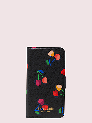 spencer cherries iphone 8 magnetic wrap folio case by kate spade new york non-hover view