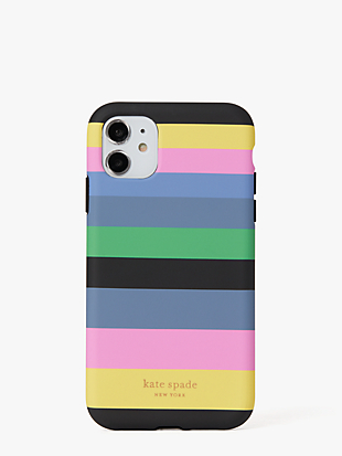 enchanted stripe iphone 11 case by kate spade new york non-hover view