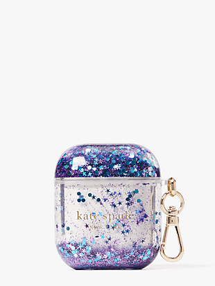 glitter airpods case by kate spade new york hover view