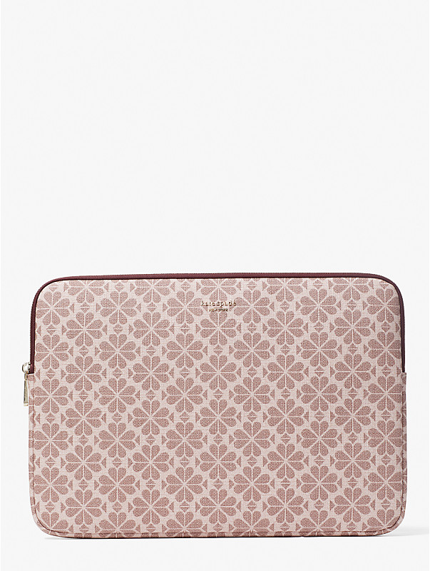 spade flower coated canvas universal laptop sleeve, , rr_large