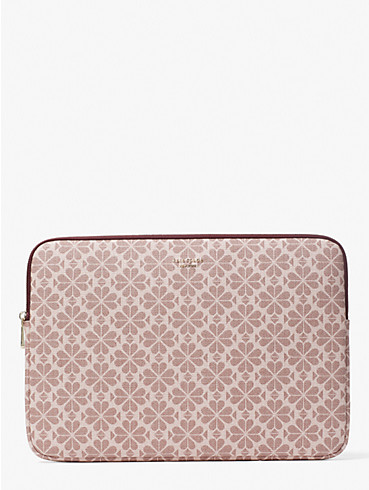 spade flower coated canvas universal laptop sleeve, , rr_productgrid